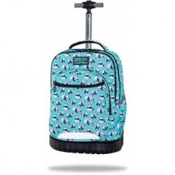 COOLPACK plecak na kółkach CP PANDAS pandy niebieski SWIFT