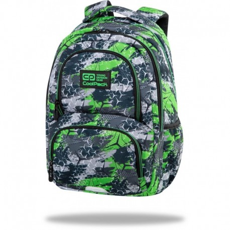 """Plecak do szkoły dla chłopca CoolPack TRIOGREEN zielony SPINER TERMIC CP 16"""" - Cool-pack.pl"""