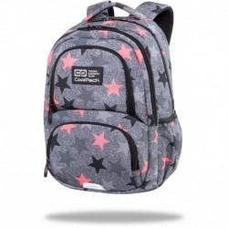 """Plecak szkolny dla dziewczyny CoolPack FANCY STARS szary w gwiazdki SPINER TERMIC CP 16"""""""