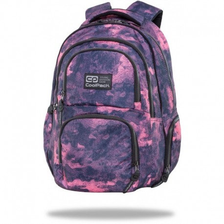 "Plecak młodzieżowy damski CoolPack FOGGY PINK różowy fioletowy AERO CP 17"" - Cool-pack.pl"
