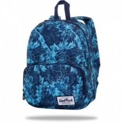 """Damski plecak na miasto CoolPack GILLYFLOWER niebieskie kwiaty SLIGHT CP 13"""""""