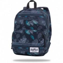 """Czarny plecak mały CoolPack BLACK FOREST liście SLIGHT CP 13"""""""