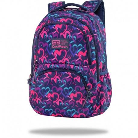 """Plecak dla dziewczyn CoolPack DRAWING HEARTS serduszka DART CP 17"""" - Cool-pack.pl"""