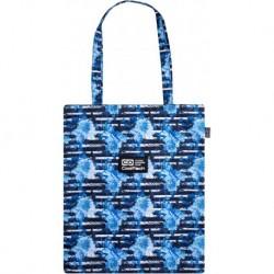 Torba na zakupy CoolPack SHOPPER BAG niebieska w kwiaty BLUE MARINE CP