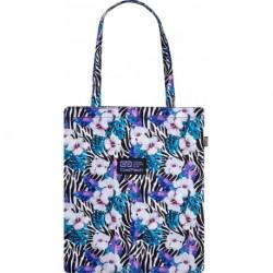 Torba w zebrę i kwiaty CoolPack SHOPPER BAG na zakupy FLOWER ZEBRA CP