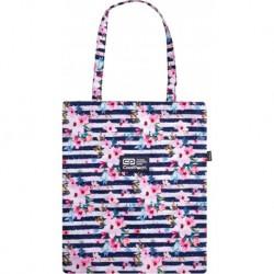 Torba damska CoolPack SHOPPER BAG paski i kwiaty PINK MARINE CP