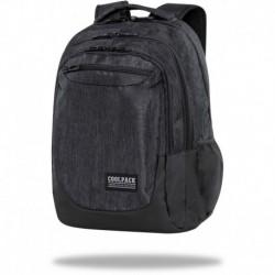 """Czarny plecak CoolPack SNOW BLACK duży młodzieżowy SOUL CP 18"""""""