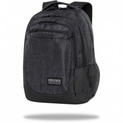"Czarny plecak na laptopa CoolPack SNOW BLACK męski SOUL CP 18"""