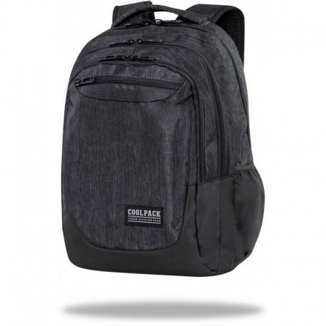 "Czarny plecak CoolPack SNOW BLACK duży młodzieżowy SOUL CP 18"" - Cool-pack.pl"
