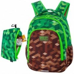 """Plecak szkolny chłopięcy CoolPack CITY JUNGLE bloki gra zielony 1-3 PRIME 16"""""""