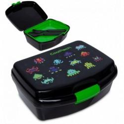 Lunchbox dla dziecka CoolPack PIXELS gra + tacka sztućce RUMI