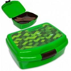 Lunchbox dla dziecka CoolPack CITY JUNGLE bloki gra + tacka sztućce RUMI