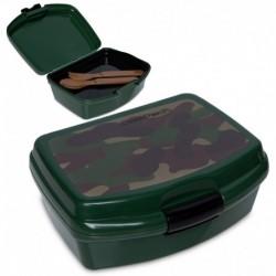 Lunchbox dla dziecka CoolPack CAMO CLASSIC moro + tacka sztućce RUMI