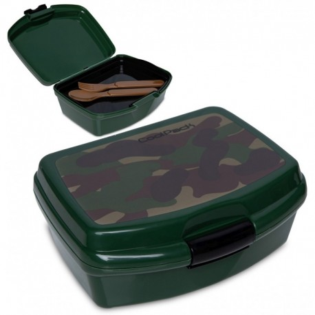 Lunchbox dla dziecka CoolPack CAMO CLASSIC moro + tacka sztućce RUMI - Cool-pack.pl
